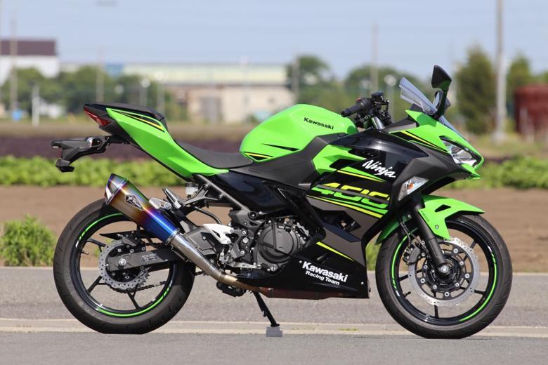 スーパーセール バイク用品 マフラー 4ストスリップオン&ボルトオンマフラーアールズギア ワイバンリアルSP S O タイプR DB Ninja400 18アールズギア RK32-03RD 取寄品