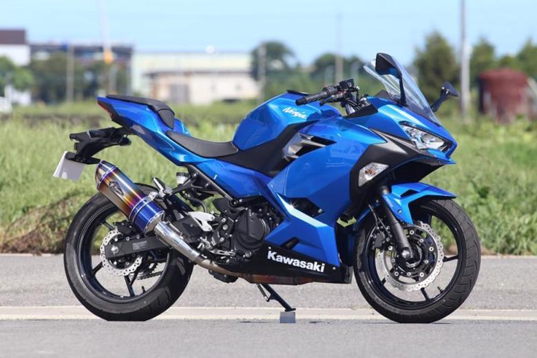 スーパーセール バイク用品 マフラー 4ストスリップオン&ボルトオンマフラーアールズギア ワイバンリアルSP S O タイプS DB Ninja250 18-アールズギア RK33-03SD 取寄品