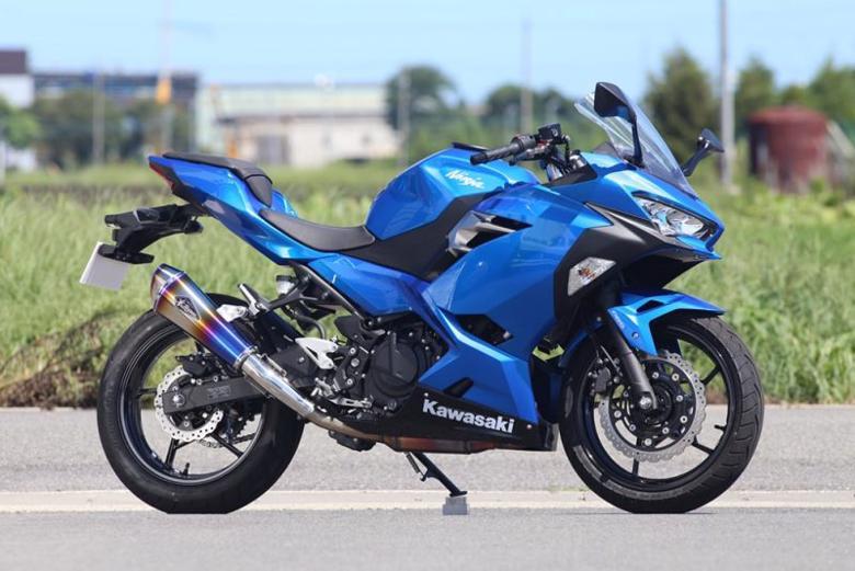 スーパーセール バイク用品 マフラー 4ストスリップオン&ボルトオンマフラーアールズギア ワイバンリアルSP S O タイプR DB Ninja250 18-アールズギア RK33-03RD 取寄品