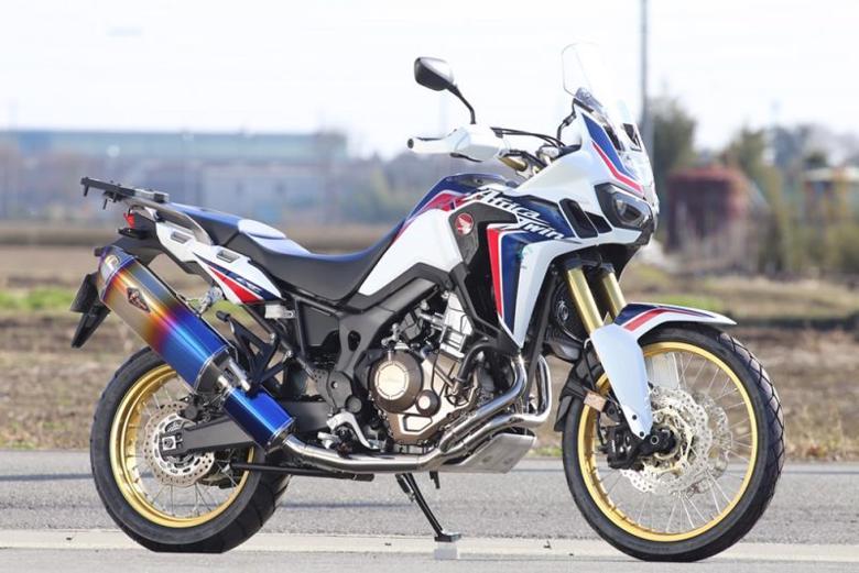 スーパーセール バイク用品 マフラー 4ストフルエキゾーストマフラーアールズギア ワイバンリアルSP シングル DB CRF1000L AfricaTwin 17-アールズギア RH37-01RD 取寄品