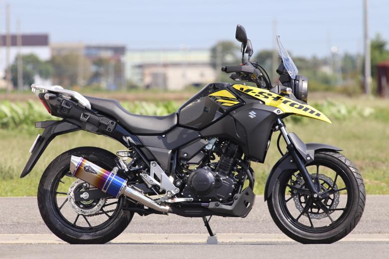 スーパーセール バイク用品 マフラー 4ストスリップオン&ボルトオンマフラーアールズギア ワイバンリアルSP S O タイプS DB V-STROM250 ABSアールズギア RS15-03SD 取寄品