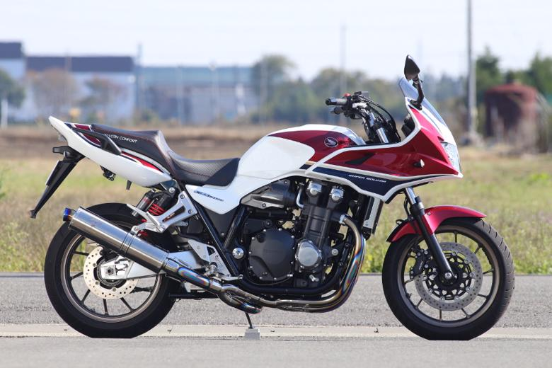 バイク用品 マフラー 4ストフルエキゾーストマフラーアールズギア ワイバンクラシック シングル TI CB1300SF SB 18-アールズギア WH32-01CT 取寄品