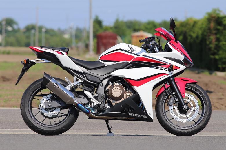 バイク用品 マフラー 4ストフルエキゾーストマフラーアールズギア ワイバンリアルSP シングル TI CBR400R 16-18 19-アールズギア RH41-01ST 取寄品