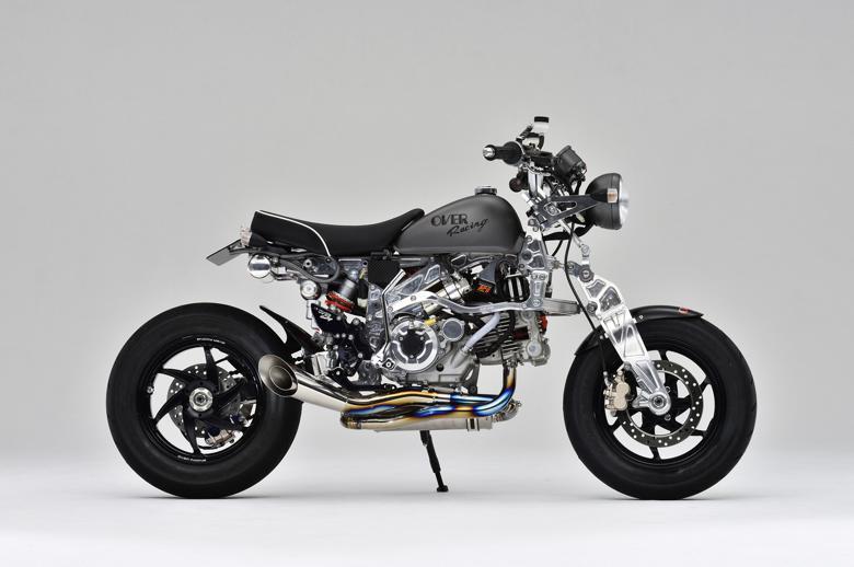 セール バイク用品 マフラー 4ストフルエキゾーストマフラーOVER スパイラル フルチタン MONKEYオーヴァーレーシング 13-01-51 取寄品