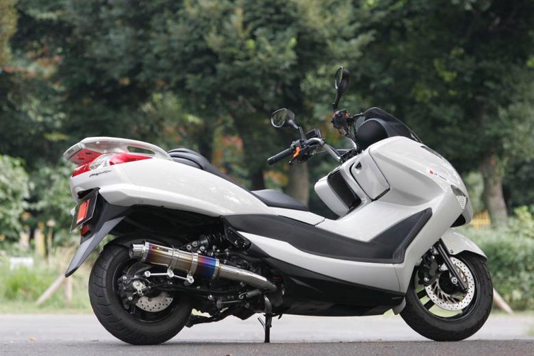 スーパーセール バイク用品 マフラー 4ストフルエキゾーストマフラーSP忠男 PURE SPORT S チタンブルー MAJESTY250(JBK-SG20J) 07-スペシャルパーツタダオ MA2-PS-03 取寄品