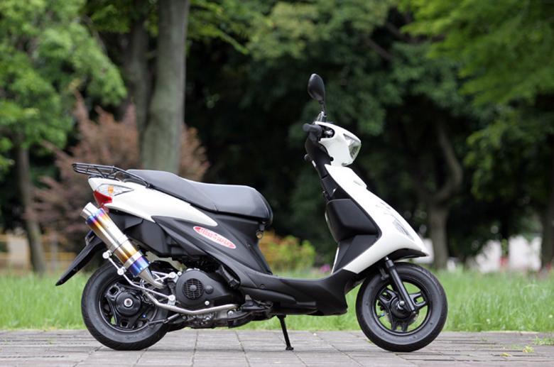 スーパーセール バイク用品 マフラー 4ストフルエキゾーストマフラーSP忠男 PURE SPORT S ゴールドエンブレム チタンブルー アドレスV125S 10-スペシャルパーツタダオ AD1-GE-04 取寄品