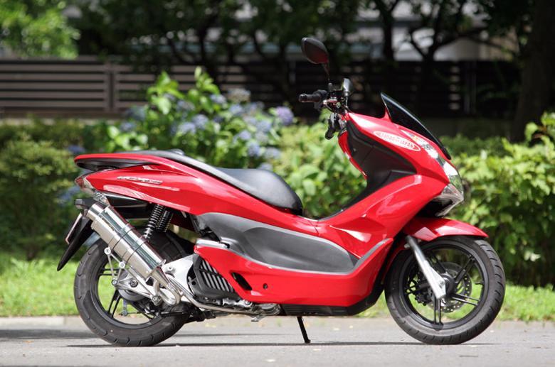 スーパーセール バイク用品 マフラー 4ストフルエキゾーストマフラーSP忠男 PURE SPORT ゴールドエンブレム サイレントVr ステン PCX150、PCX125(EBJ-JF56) 14-スペシャルパーツタダオ PC1-GE-11 取寄品