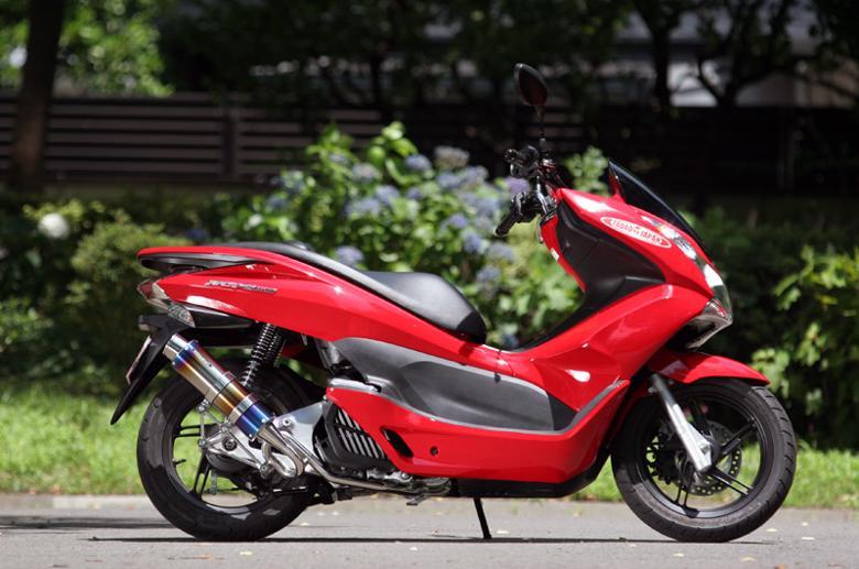 セール バイク用品 マフラー 4ストフルエキゾーストマフラーSP忠男 PURE SPORT S ゴールドエンブレム チタンブルー PCX150、PCX125(EBJ-JF56) 14-スペシャルパーツタダオ PC1-GE-14 取寄品