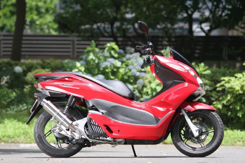 スーパーセール バイク用品 マフラー 4ストフルエキゾーストマフラーSP忠男 PURE SPORT S ゴールドエンブレム ステン PCX150、PCX125(EBJ-JF56) 14-スペシャルパーツタダオ PC1-GE-13 取寄品