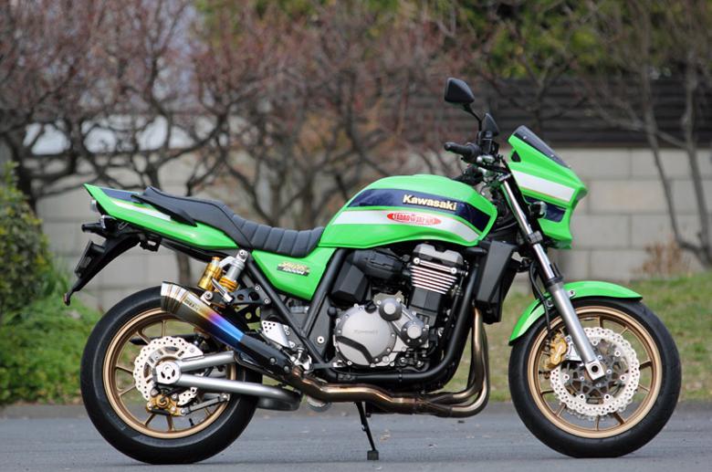 スーパーセール バイク用品 マフラー 4ストスリップオン&ボルトオンマフラーSP忠男 パワーボックス(メガホン)チタンブルー ZRX1200DAEG(国内仕様EBL-ZRT20D) 09-スペシャルパーツタダオ ZR1-PB-01 取寄品