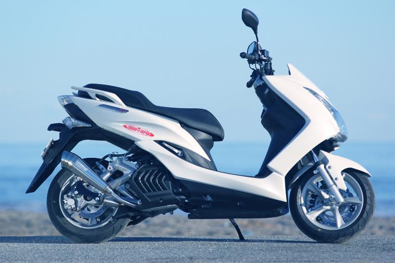 スーパーセール バイク用品 マフラー 4ストフルエキゾーストマフラーSP忠男 パワーBOX フル メガホン  MAJESTY-S(JBK-SG28J) SMAX(SG271)スペシャルパーツタダオ MA1-PB-01 取寄品