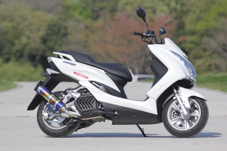 セール バイク用品 マフラー 4ストフルエキゾーストマフラーSP忠男 パワーBOX フル Rチタンブルー MAJESTY-S(JBK-SG28J) SMAX(SG271)スペシャルパーツタダオ MA1-PB-03 取寄品