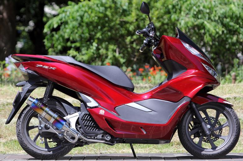セール バイク用品 マフラー 4ストフルエキゾーストマフラーSP忠男 PURESPORT S TIブルー PCX125 18(2BJ-JF81)スペシャルパーツタダオ PC1-GE-34 取寄品