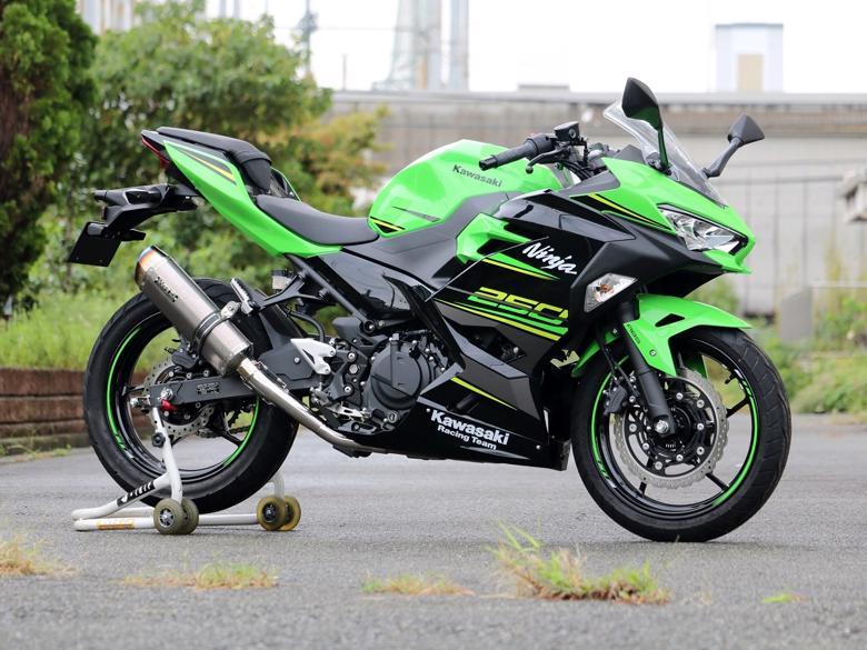 スーパーセール スーパースーパーセールバイク用品 マフラー 4ストフルエキゾーストマフラーWR`S フルEX SS-OVAL ソリッド Ninja250 18 2BK-EX250Pダブルアールズ LK4270JM 取寄品