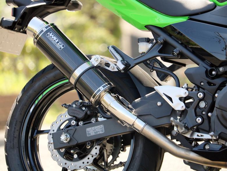 スーパーバイク用品 マフラー 4ストスリップオン&ボルトオンマフラーWR`S スリップオン ラウンド カーボン Ninja250 18 2BK-EX250Pダブルアールズ BC4270JM 取寄品 セール
