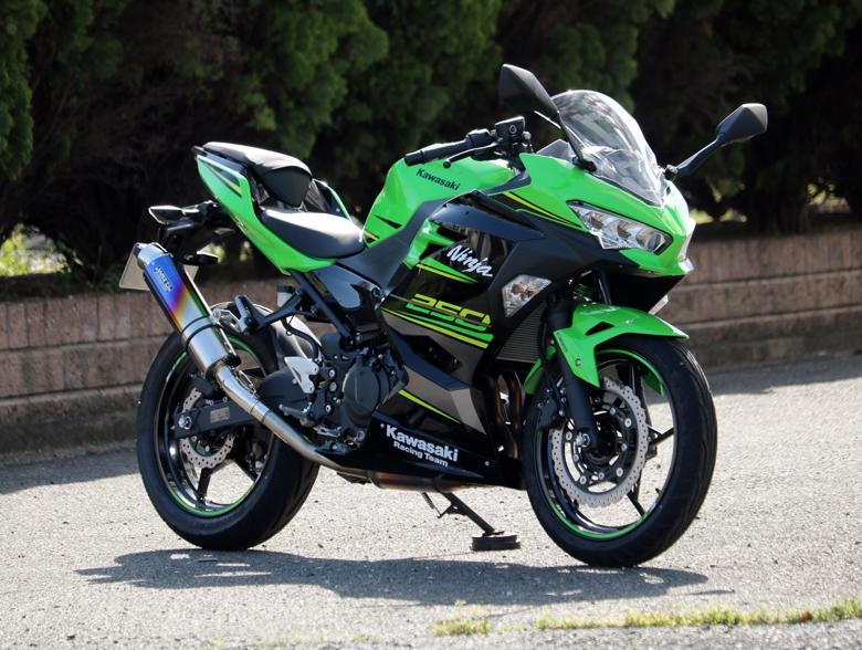 スーパーセール スーパースーパーセールバイク用品 マフラー 4ストスリップオン&ボルトオンマフラーWR`Sスリップオン ラウンド 焼き色チタンNinja250 18 2BK-EX250Pダブルアールズ BK4270JM 取寄品