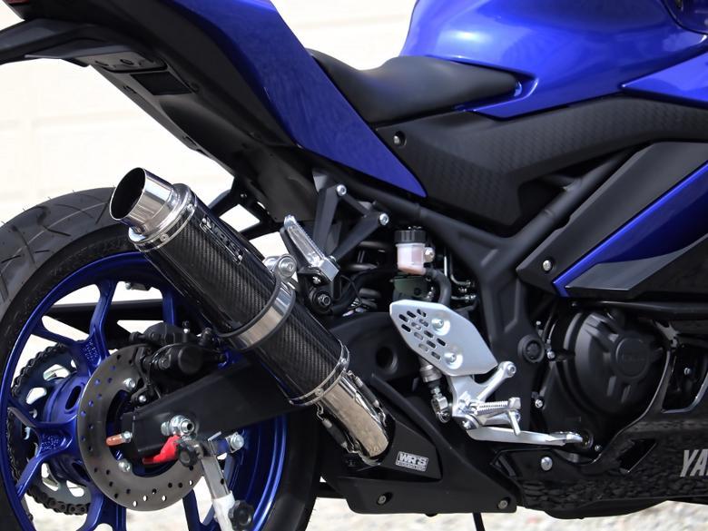 スーパーバイク用品 マフラー 4ストスリップオン&ボルトオンマフラーWR`S リアエキゾースト ラウンド カーボン YZF-R25(2BK-RG43J)ダブルアールズ BC2255JM 取寄品 セール