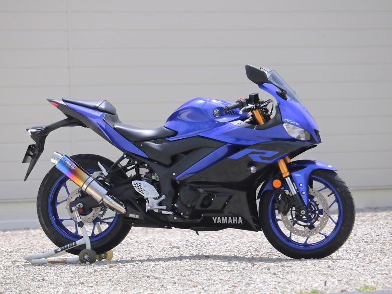 セール バイク用品 マフラー 4ストスリップオン&ボルトオンマフラーWR`S リアエキゾースト ラウンド 焼きチタン YZF-R25(2BK-RG43J)ダブルアールズ BK2255JM 取寄品