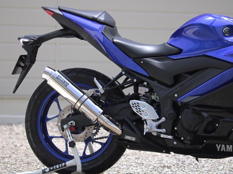 スーパーセール スーパースーパーセールバイク用品 マフラー 4ストスリップオン&ボルトオンマフラーWR`S リアエキゾースト ラウンド ステンレス YZF-R25(2BK-RG43J)ダブルアールズ BF2255JM 取寄品