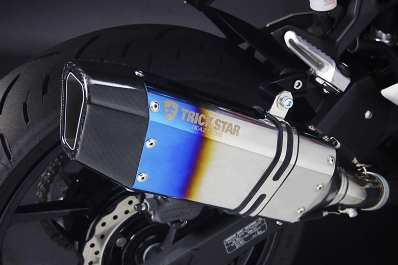 バイク用品 マフラー 4ストフルエキゾーストマフラートリックスター レーシングフルEX IKAZUCHI 焼ステン チタンパイプ CBR250RR 17トリックスター RFT-109-L7YS 取寄品