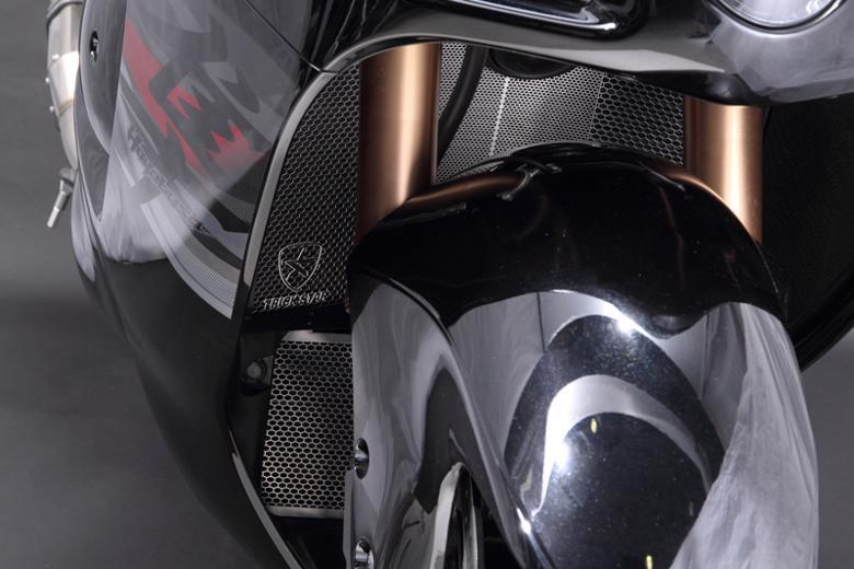 スーパーセール バイク用品 冷却系 ラジエタートリックスター ラジエターコアガード ブラックメッキ GSX-1300R ハヤブサ 08-16トリックスター VHG-304-BM 取寄品