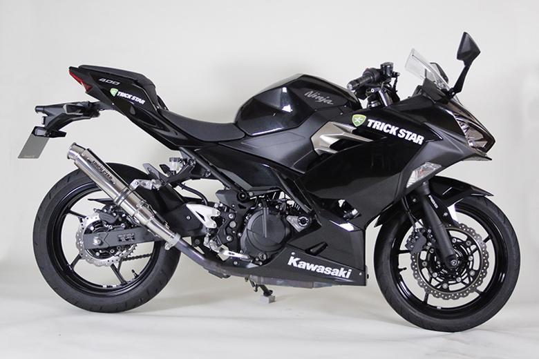 スーパーセール バイク用品 マフラー 4ストスリップオン&ボルトオンマフラートリックスター レーシングS O ショットガン チタン カールエンド Ninja400 18-トリックスター RSS-020B-STC 取寄品