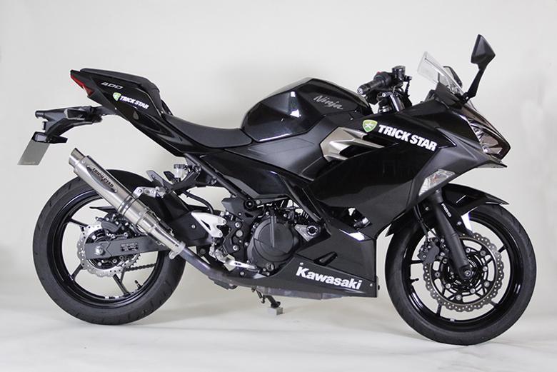 スーパーセール バイク用品 マフラー 4ストスリップオン&ボルトオンマフラートリックスター レーシングS O ショットガン 焼チタン GP Ninja250 18トリックスター RSS015E-SYTGP 取寄品
