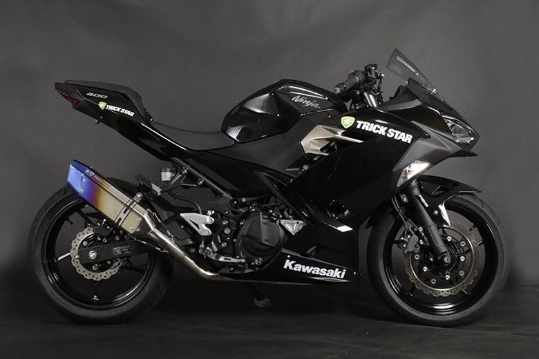 スーパーセール バイク用品 マフラー 4ストフルエキゾーストマフラートリックスター レーシングフルエキ IKAZUCHI ショート Ninja250 18-トリックスター RFS-015E-L6YT 取寄品