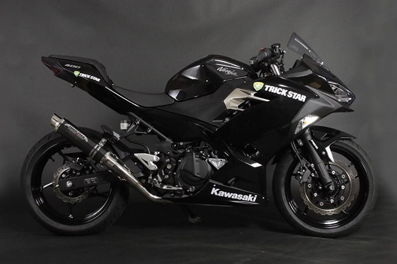 スーパーセール バイク用品 マフラー 4ストフルエキゾーストマフラートリックスター レーシング ショットガン カーボンスラッシュ Ninja250 18-トリックスター RFS-015E-SCSC 取寄品