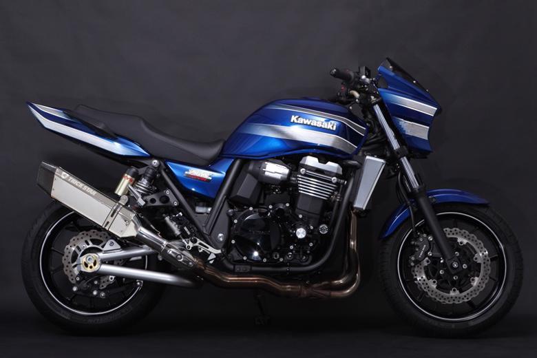 スーパーセール バイク用品 マフラー 4ストスリップオン&ボルトオンマフラートリックスター レーシングS O イカヅチ ステン・カーボン ZRX1200DAEGトリックスター RST-003D-L4SC 取寄品