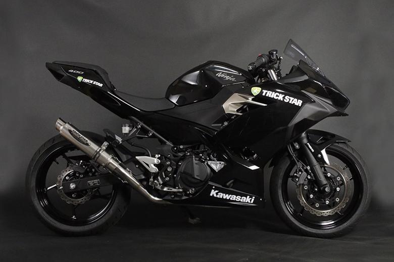 スーパーセール バイク用品 マフラー 4ストフルエキゾーストマフラートリックスター レーシングショットガンチタンスラッシュ Ninja400 18-トリックスター RFS-020B-STSC 取寄品