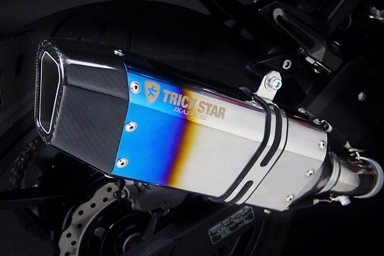 スーパーセール バイク用品 マフラー 4ストスリップオン&ボルトオンマフラートリックスター S O IKAZUCHI 焼ステン カーボン Ninja250 13-トリックスター JSS-015D-L4YS 取寄品