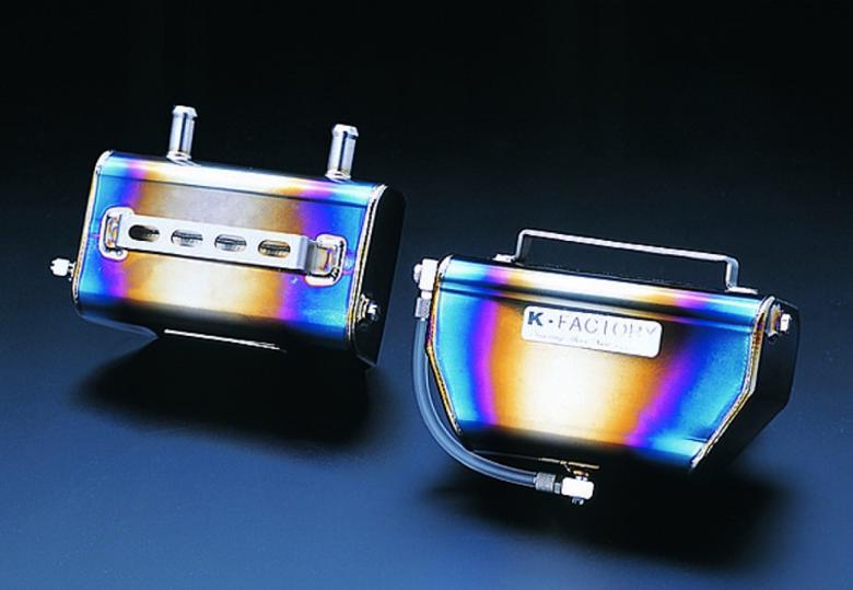 スーパーセール バイク用品 冷却系 オイルクーラーK-FACTORY チタンオイルキャッチタンク チタン ハンヨウケイファクトリー 000WZBC001P 取寄品