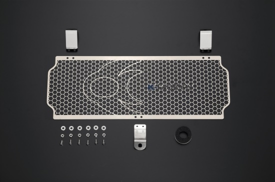 スーパーセール バイク用品 冷却系 オイルクーラーK-FACTORY オイルクーラーガード ステンレス Bタイプ ZEPHYR1100ケイファクトリー 111CZAA054Z 取寄品