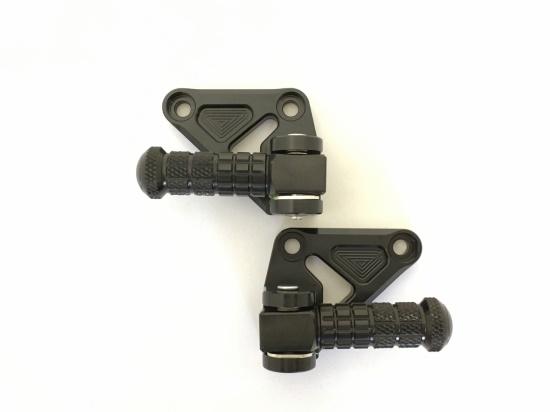 スーパーセール バイク用品 ステップ ステップ&ステップボード&タンデムキットK-FACTORY タンデムステップキット スーパーブラック ZRX1200ケイファクトリー 103VZAP003R 取寄品