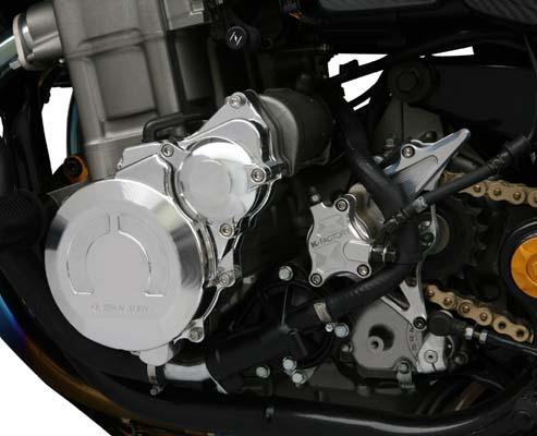 スーパーセール バイク用品 吸気系&エンジン クランクケース&クランクシャフト&エンジンカバーK-FACTORY クランクエンドカバーL シルバー CB1300SF SB -09 X-4ケイファクトリー 000IZBM007H 取寄品