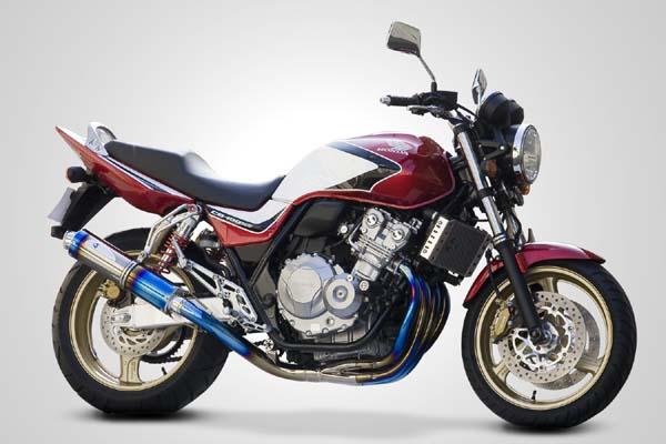 スーパーセール バイク用品 マフラー 4ストフルエキゾーストマフラーK-FACTORY FRCチタン フルEX SBL-B CB400SF SB REVO 08-13ケイファクトリー 058KABCEKG1011 取寄品