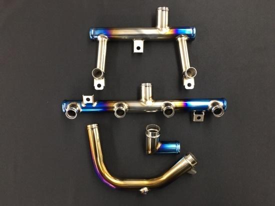 セール バイク用品 冷却系 ラジエターK-FACTORY チタン製ウォーターパイプ ZRX1200DAEGケイファクトリー 152OZEN001P 取寄品