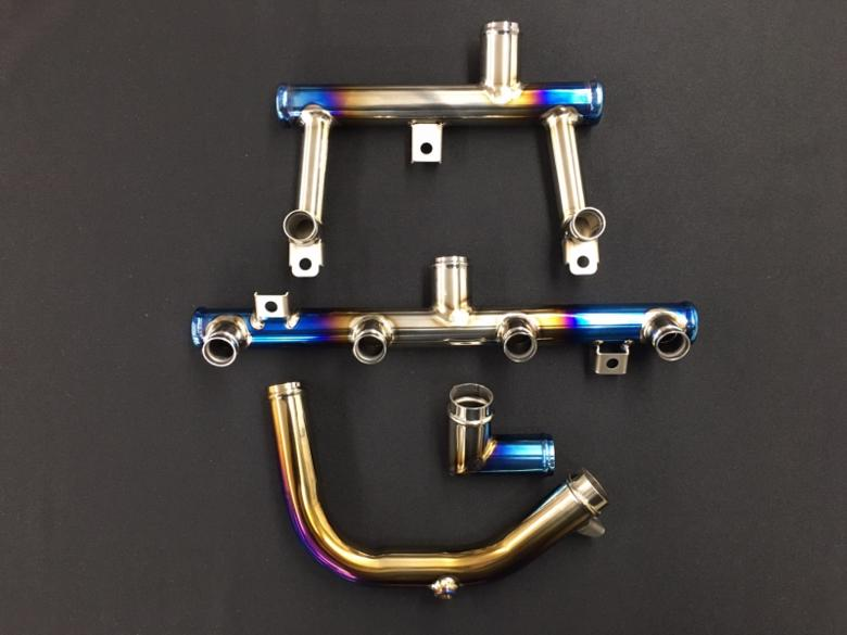 バイクパーツ モーターサイクル オートバイ セール バイク用品 冷却系 その他(冷却系)K-FACTORY チタン製ウォーターパイプセット SBL ZRX1200R S -08ケイファクトリー 103OZEN003P 取寄品