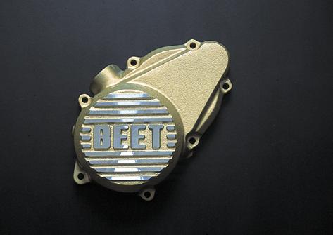 スーパーセール バイク用品 吸気系&エンジン クランクケース&クランクシャフト&エンジンカバーBEET スターターカバー GLD CB400FOUR 97-ビート 0401-H50-10 取寄品