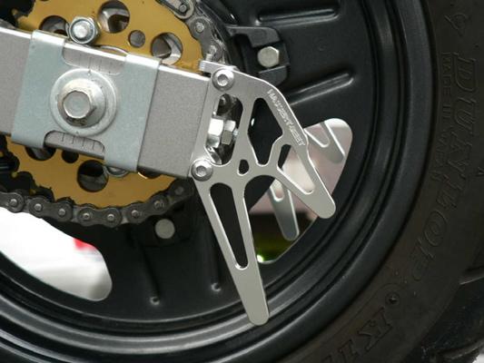 スーパーセール バイク用品 サスペンション&ローダウン スイングアームBEET レーシングスタンドフックSET シルバー KSR110ビート 0611-K68-09 取寄品