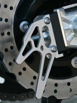 スーパーセール バイク用品 サスペンション&ローダウン スイングアームBEET レーシングスタンドフックSET シルバー Ninja250 Rビート 0611-K95-09 取寄品