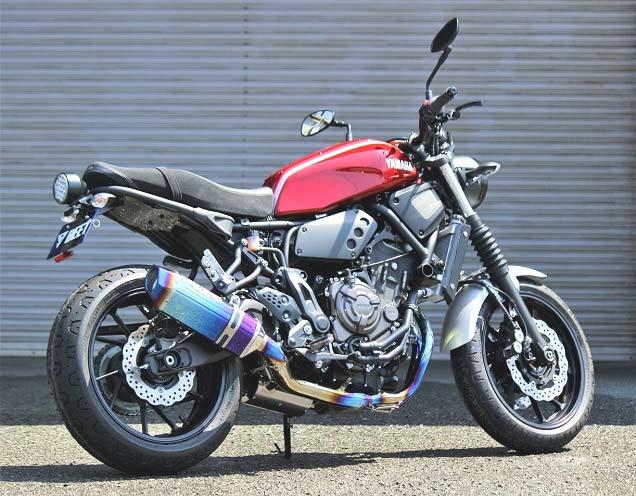 スーパーセール バイク用品 マフラー 4ストフルエキゾーストマフラーBEET ナサート-Evo TYPE2 ブルーTI XSR700 18-ビート 0223-Y52-BL 取寄品