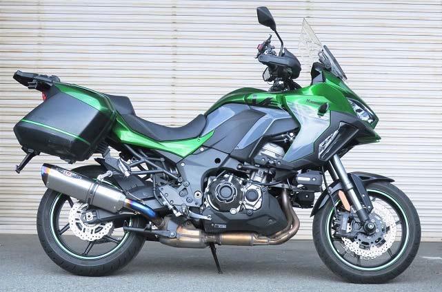 バイク用品 マフラー 4ストスリップオン&ボルトオンマフラーBEET ナサート-Evo TYPE2 S O クリアTI VERSYS1000SE 19-ビート 0222-KF2-50 取寄品