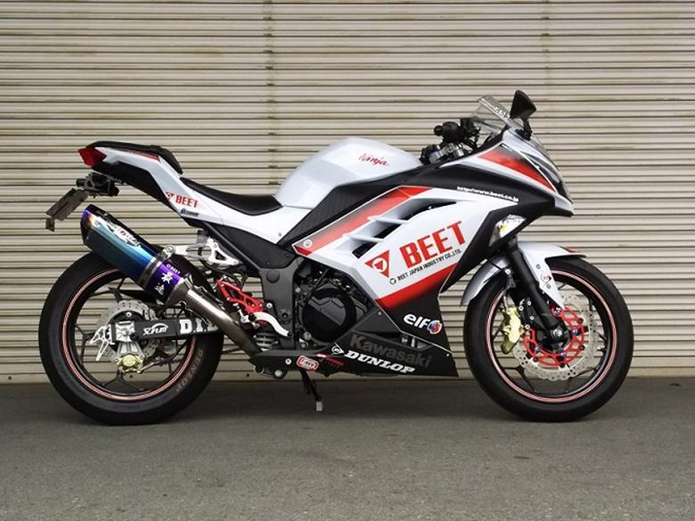 セール バイク用品 マフラー 4ストフルエキゾーストマフラーBEET ナサートR Evo TYPE-2 クリアチタン Ninja250 13-ビート 1003-B25-03 取寄品