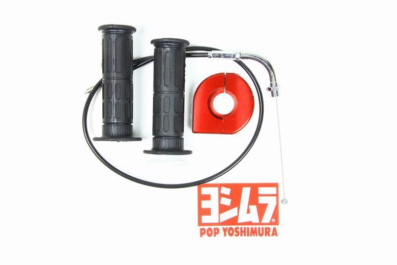 スーパーセール バイク用品 吸気系&エンジン 吸気系リペアパーツ&チューニングキットヨシムラ スロットルSET L650 赤 YD-MJN24 28用ヨシムラ 671-040R6500 取寄品