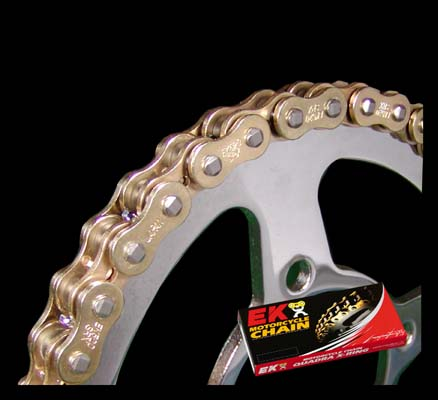 スーパーセール バイク用品 駆動系 チェーン&ドライブベルトエヌマチェーン 520SRX2-GP GP GOLD&GOLD 150L SLJEKチェーン(江沼チェーン) 520SRX2-GP/GP 取寄品