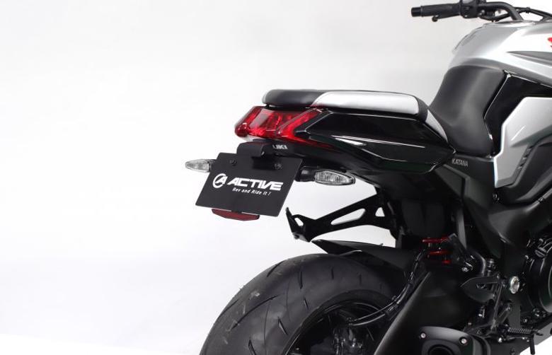 スーパーセール バイク用品 外装 フェンダーアクティブ フェンダーレスKIT LEDナンバートウツキ BLK KATANA 19ACTIVE 1155042 取寄品