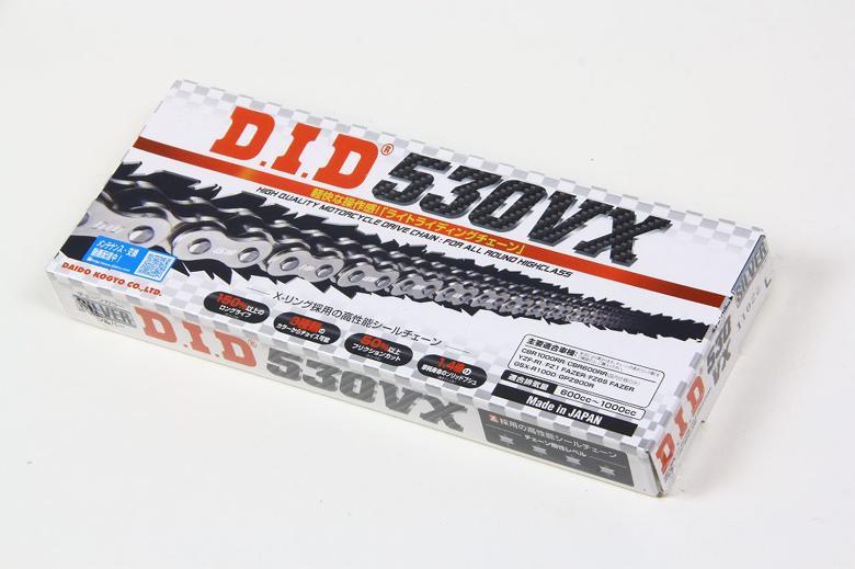 バイクパーツ モーターサイクル オートバイ バイク用品 駆動系 チェーン セール商品 ドライブベルトDID 530VX シルバー SS 104Lディーアイディー 取寄品 今ダケ送料無料 S