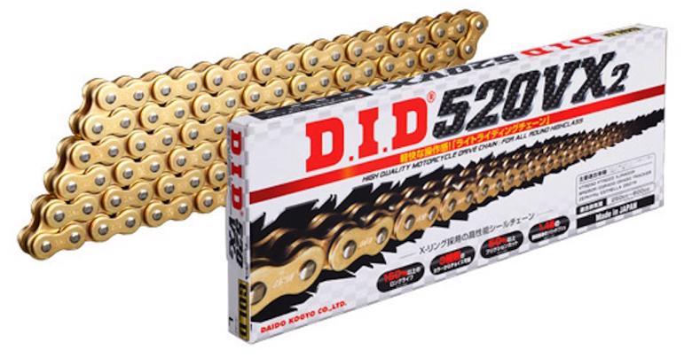 スーパーセール バイク用品 駆動系 チェーン&ドライブベルトDID 428VX G&G ゴールド 124Lディーアイディー 428VX G&G 取寄品